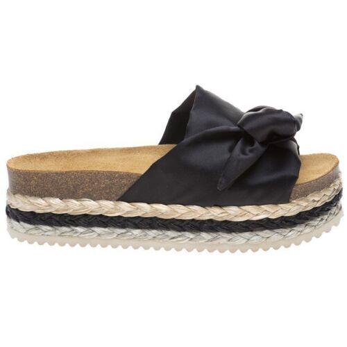 avec chaussures Effie On Slip sandales en femme soleil noire des Nouvelles satin 8m0wvnONy
