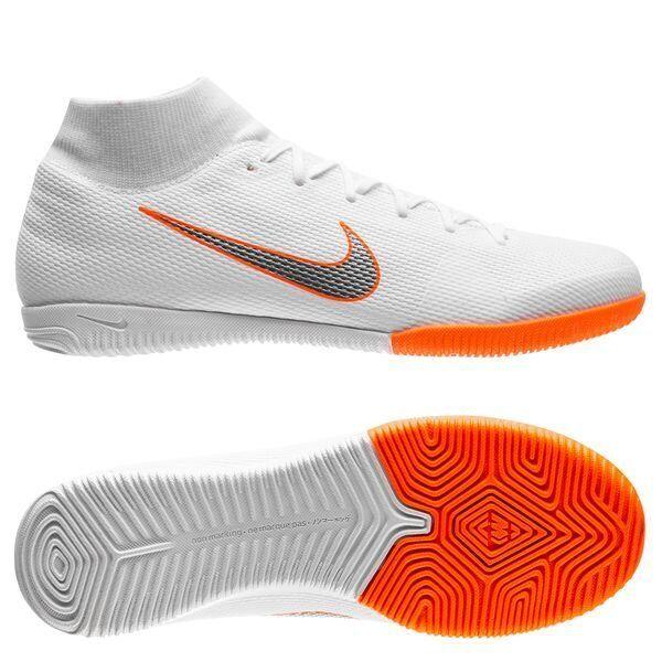 Nike Mercurial SuperflyX VI IC Indoor 2018 DF Academy Soccer Shoes White Orange