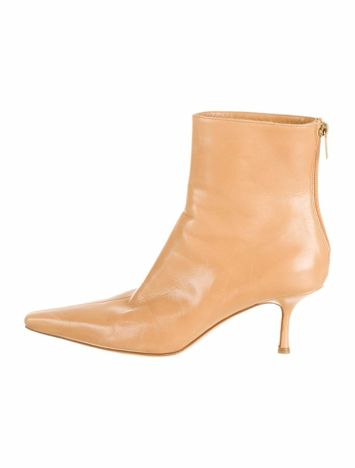 STUNNING BRAND NEW  1,075 JIMMY CHOO TAN LEATHER ANKLE BOOTS