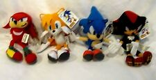 "Knuckles,Tails,Blue Sonic,and Shadow 6"" Plush Doll Soft Stuffed Toy Figures-New!"