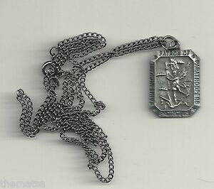SAINT-MICHAEL-ARCHANGEL-PATRON-OF-PARATROOPERS-PENDANT-DOG-TAG-WITH-CHAIN