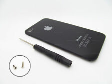 REFURB iPHONE 4 4G BACK GLASS BATTERY PLATE DOOR AT&T GSM BLACK A1332 + TOOL