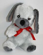"""Superior Toy And Novelty DOG 10"""" Vtg Carnival Toy Gray Plush Firm Stuffed Korea"""