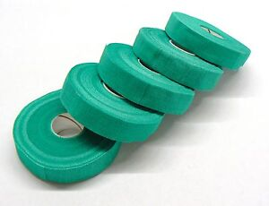 SAFETY-TAPE-FINGER-WRAP-ADHESIVE-TAPE-5-ROLLS-3-4-WIDE-GREEN-SELF-ADHERING-TAPE