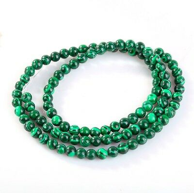 9 Size 15.5'' Strand Malachite Gemstone Round Spacer Beads Fit Jewelry DIY Craft