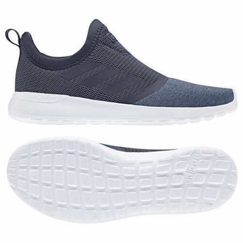 adidas Ladies' Lite Racer Cloudfoam Slip On Walking Shoes Navy, Pick A Size