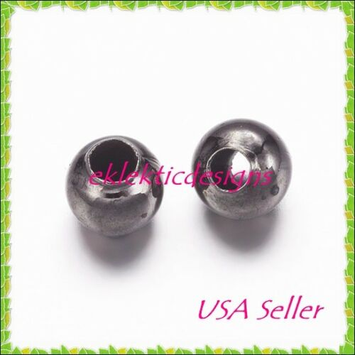 2mm 250 pc Gunmetal Black Plated Metal Spacer Beads Jewelry Findings Necklace