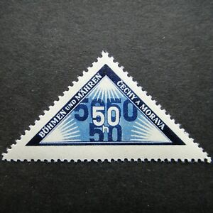 Germany-Nazi-1939-1940-Stamp-MNH-PERSONAL-DELIVERY-B-amp-M-WWII-Third-Reich-German-D
