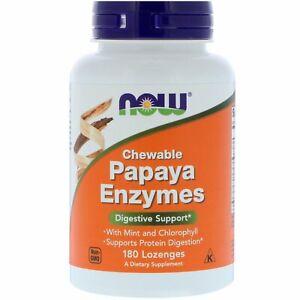 Enzimi di Papaya - 180 specie di pastiglie da Now Foods-SUPPORTO digestive