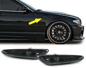 Clignotant Fumee Noir Paire Pour BMW 3ER E46 00-05 5er E60 E61 03-10 X3 E83