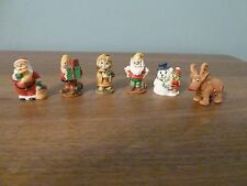Mini Ornaments -  6 Character Christmas Set - Rare Vintage Find