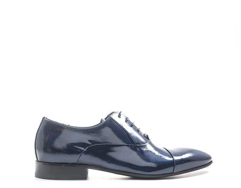 Zapatos EVEET Hombre azul Barnizada,Cuero natural 16500-BL
