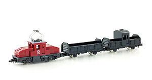 Kato 105003-1 Spur N Dampflok mit zwei Wagen schwarz//grün nach Bayr Vorbild