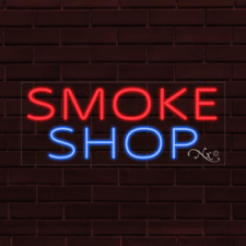 Brand New Smoke Shop 32x13x1 Inch Led Flex Indoor Sign 31478