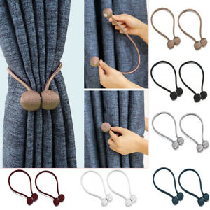 Strong-Magnetic-Ball-Curtain-Tiebacks-Tie-Backs-Buckle-Clips-Holdbacks-Home