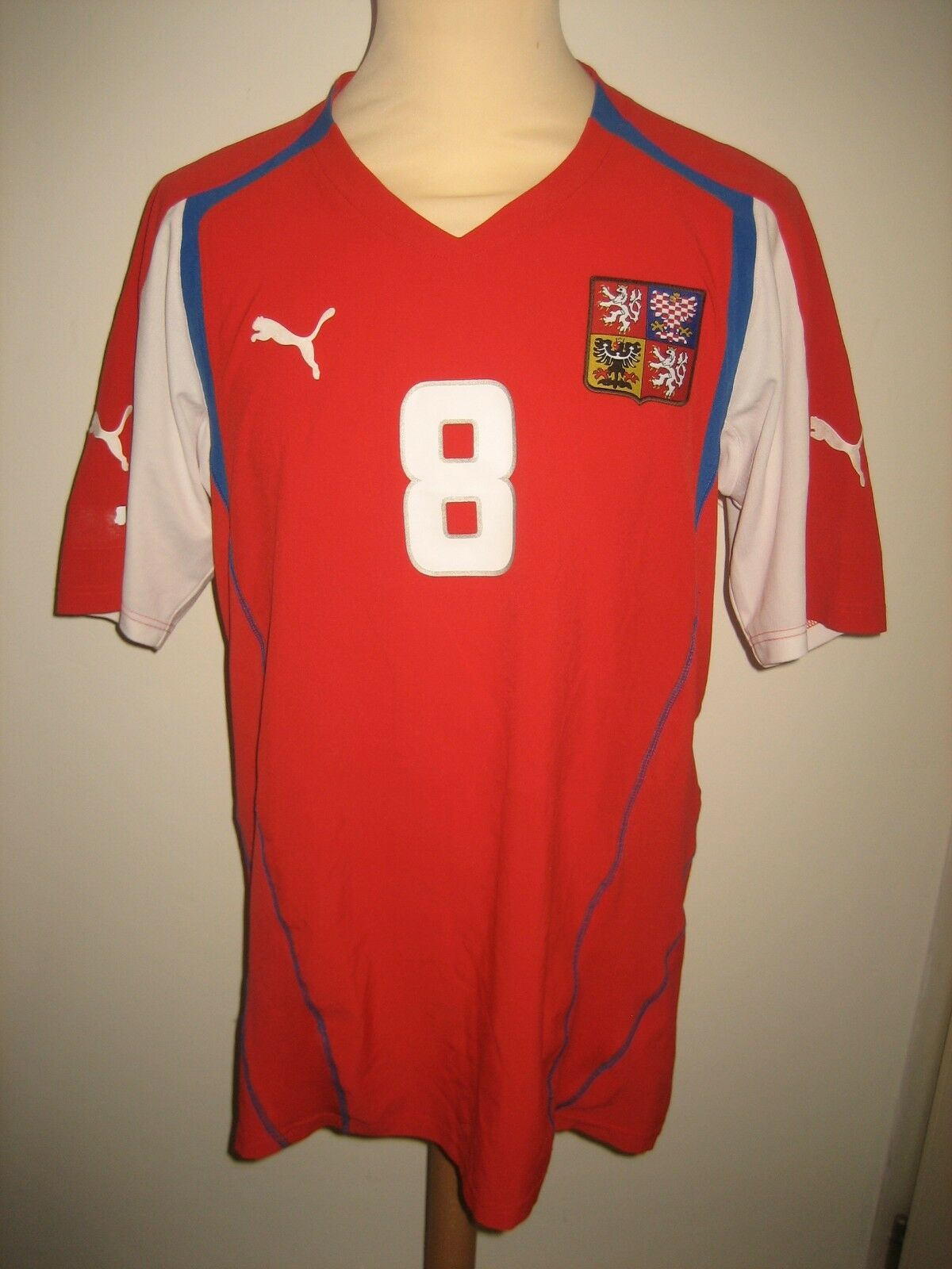 Czech republic MATCH WORN football shirt soccer jersey maillot trikot Dimensione L