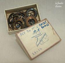 boîte de 14 ressort à bride d'horloger ancien 3,3 par 0;24 - outil de précision