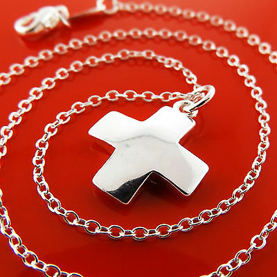NECKLACE PENDANT CHAIN GENUINE REAL 925 STERLING SILVER S//F SOLID SNAKE DESIGN