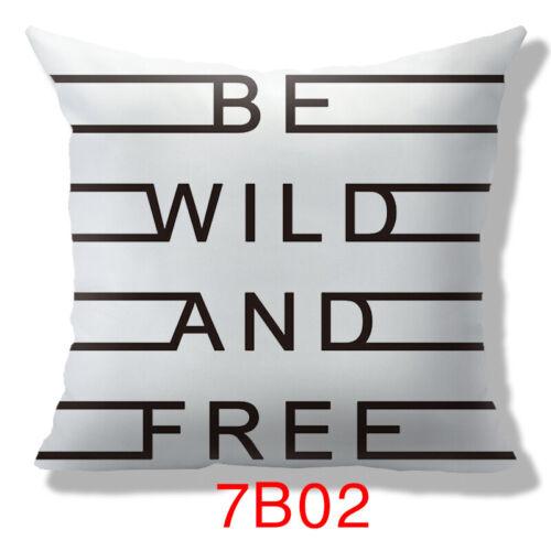 "4Size 14/"" 16/"" 18/"" 20/""Black Pillow Case Sofa Throw Waist Cushion Cover Home Decor"