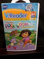 Vtech Vreader Cartridge Game E-reading System Interactive Dora Nickelodeon