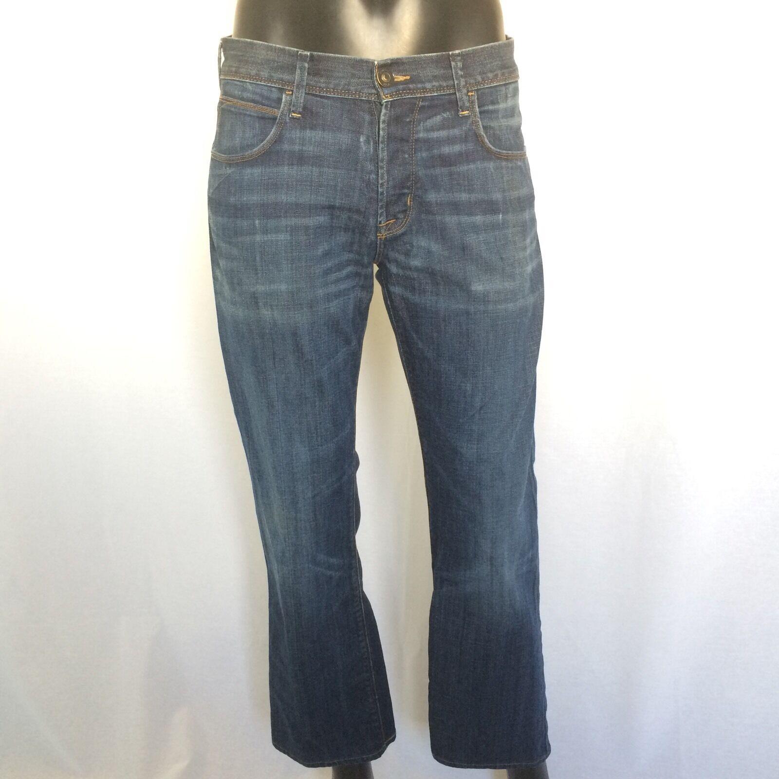 Hudson jeans para hombres  de marca tamaño 31 X 28 Azul Pierna Recta Denim Pantalones De Diseñador EE. UU.  venta con descuento
