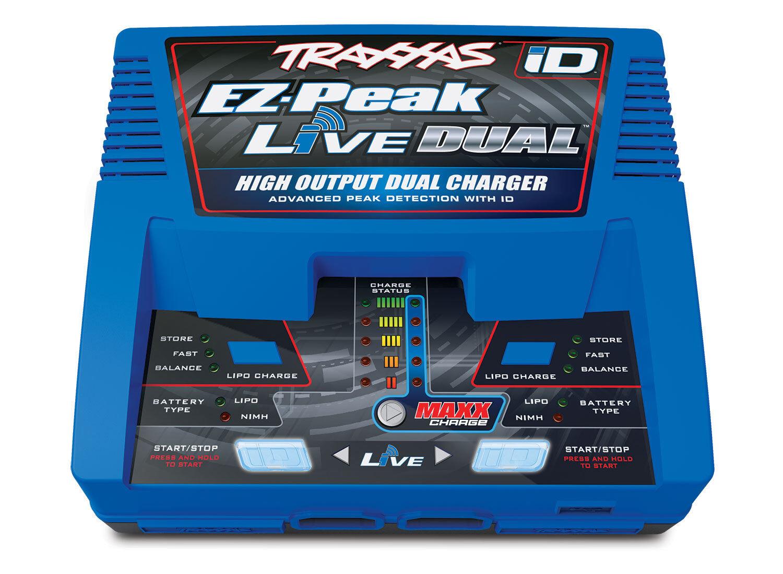 design unico Traxxas Traxxas Traxxas EZ-Peak Live Dual LiPo 4S NiMh 200 Watt AC Battery Charger W  iD TRA2973  negozio d'offerta