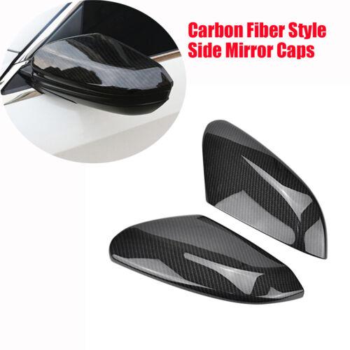 2X Carbon Fiber Style Car Side Rear View Mirror  Trim Covers Cap For Honda Civic