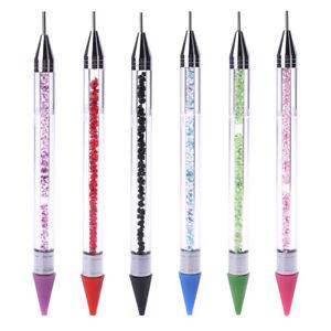Dual-ended-Dotting-Pen-Nail-Art-Rhinestone-Handle-Picker-Wax-Pencil-Crystal-Bead