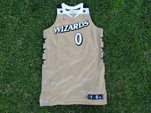 quality design c3a96 ab589 Details about Gilbert Arenas Washington Wizards NBA Gold Throwback Adidas  Jersey 0 +4