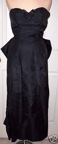 WOMEN's JESSICA McCLINTOCK VINTAGE 80's BLACK COC… - image 1