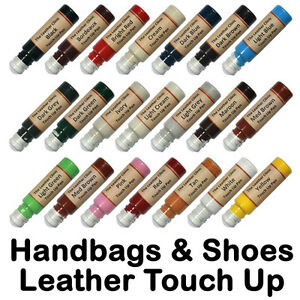 Handbag Shoe Leather Touch Up Scratch Repair Pen All Colours & Custom Paint Dye.