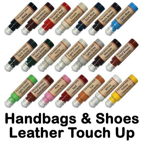 Handbag Scarpa LEATHER Touch Up SCRATCH REPAIR PEN Tutti I Colori /& personalizzato VERNICE COLORANTE.