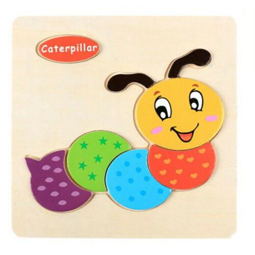 Adorable Animals Wooden Puzzle Educational Developmental Training Jigsaw Kid Toy