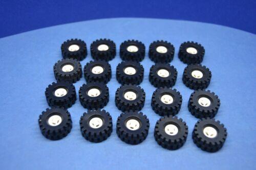 LEGO 20 x Rad Reifen 20x8 weiß white wheel rim 4084 4624 462401