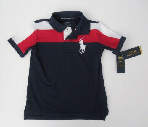 NWT Ralph Lauren Boys S//S Lisle Peformance Big Pony Polo Shirt Sz 4 5 6 NEW $45
