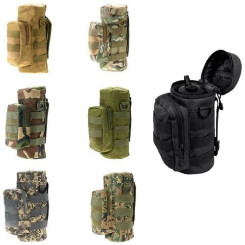 Tactical Hiking Molle Military Zipper Utility Kettle Water Bottle Hydration Pack