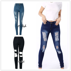 3 Colors Pencil Hot Stretch Casual Denim Skinny Jeans Pants High Waist Trousers