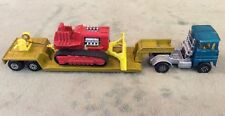 1973 Matchbox Super Kings K-23 Low Loader Trailer and Scammell Tractor