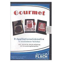 """Neue Stickmuster Cd """" Gourmet"""" Aus Der Nähwelt Flach 13365"""