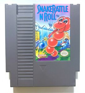 Snake Rattle 'n' Roll ORIGINAL NINTENDO NES Game Tested Working AUTHENTIC!