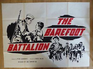 Details about THE BAREFOOT BATTALION (1953) - original UK quad film/movie  poster, war,ww2,rare