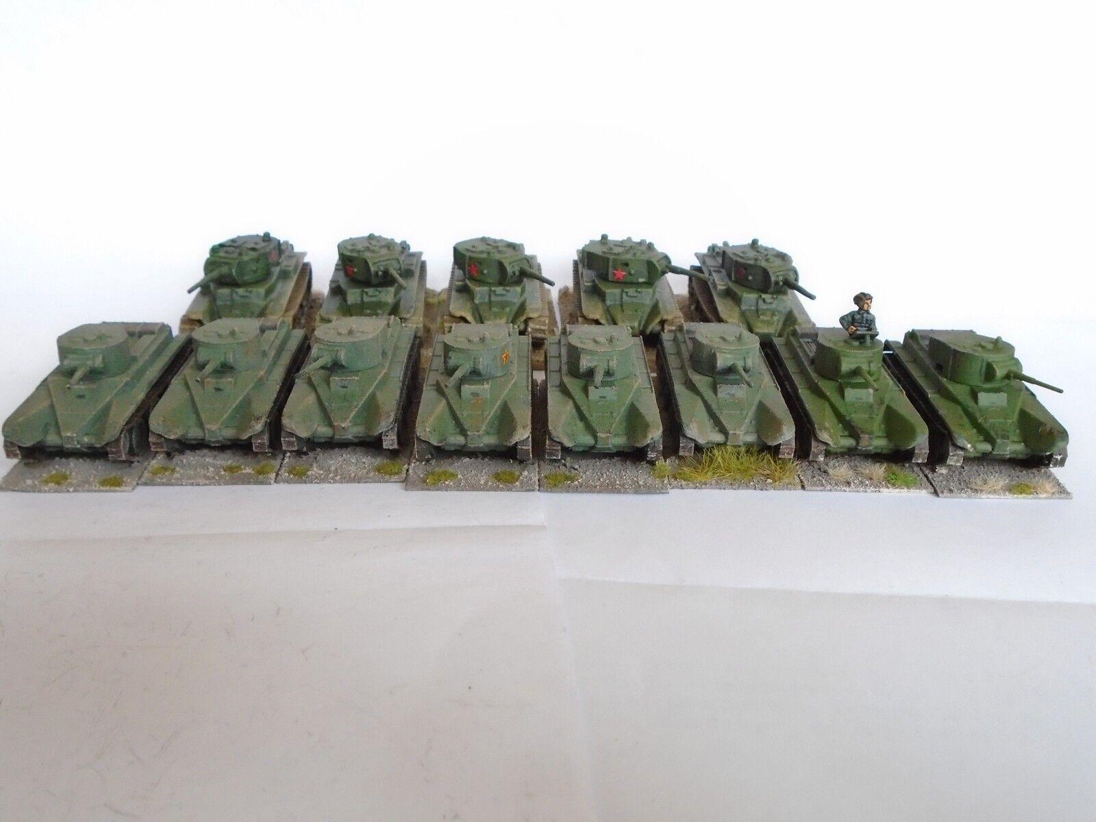 13x 13x 13x 15mm Soviet BT5 tanks  by Zvezda   Gaming Models WW2 Flames of war wargames 07aba2