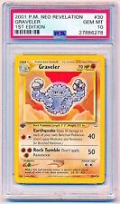 Pokemon Neo Revelation Uncommon Card #30//64 Graveler
