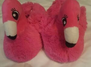 later for whole family outlet online Justice Girls Flamingo Slippers Plush Shoes Pink Size 2/3 Youth ...