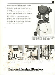 image is loading mubea-bf-10-ironworker-operations-and-parts-manual