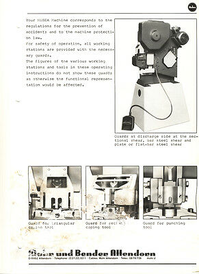 Mubea BF 10, Ironworker Operations and Parts Manual | eBay | Elec Wiring Diagram For Mubea Ironworker |  | eBay