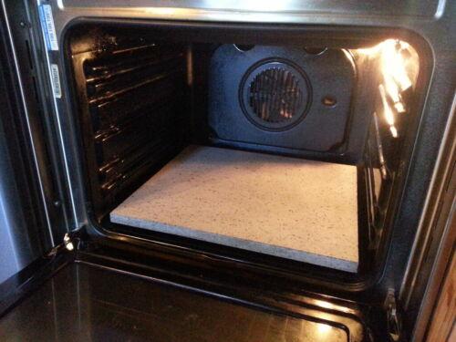 Pietra lavica refrattaria dell/'Etna teglia da forno pizza pane 40x35x3 piastra