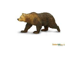 Action Figures Considerate Grizzly Bear 10 Cm Series Wild Animal Safari Ltd 181329