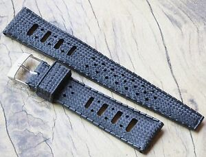 Soft-rubber-20mm-vintage-divers-watch-band-perforated-waffle-finish-NOS-1960s