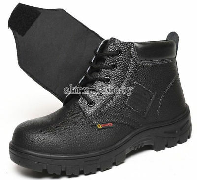 820a0cb8892 Men's Leather Chukka Welder Shoes Steel Toe Welding Boots Work Safety Shoes    eBay